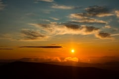 Sunrise from Lysá hora mountain